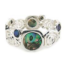 Irish Bracelet - Abalone Round Stretch Spiral Bracelet