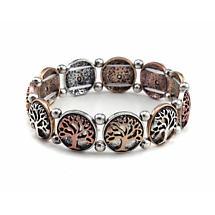 Irish Bracelet - Tree of Life Two Tone Bracelet