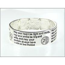 Irish Bracelet - Four Blessings Stretch Bracelet
