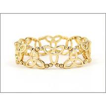 Trinity Knot Jewelry - Goldtone Trinity Knot Stretch Bracelet