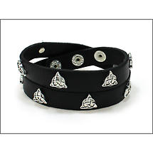 Irish Bracelet - Trinity Wrap Leather Bracelet