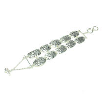 Irish Bracelet - Silver Tone Irish Song Verse Bracelet