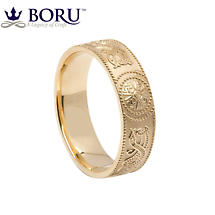 Celtic Ring - Men's Celtic Warrior Shield Wedding Ring