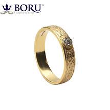 Celtic Ring - Ladies Diamond Warrior Shield Wedding Ring