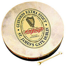 "Bodhran Drum - 8"" Guinness Label"