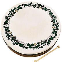 "Bodhran Drum - 8"" Shamrock Design"