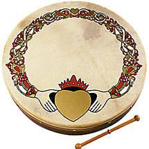 """Bodhran Drum - 8"""" Claddagh Design"""