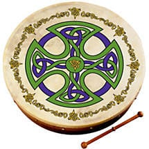 "Bodhran Drum - 8"" Brosna Cross"