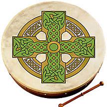"Bodhran Drum - 8"" Cloghan Cross"