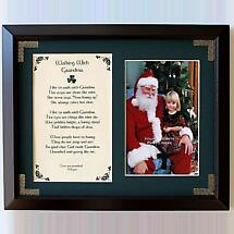 Personalized Walking with Grandma Photo Verse Framed Print