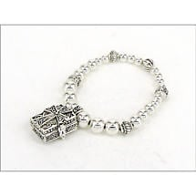 Celtic Bracelet - Celtic Cross Prayer Box Bracelet