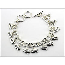 """Dirty Irish Words"" Charm Bracelet"