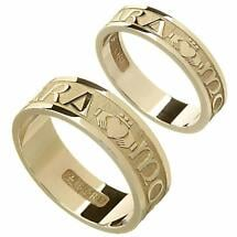 "Irish Rings - Yellow Gold Mo Anam Cara ""My Soul Mate"" Wedding Ring Set"