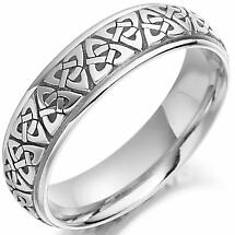 Irish Wedding Ring - Ladies Gold Trinity Knot Everlasting Love Celtic Wedding Band