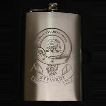 Coat of Arms Personalized 8oz Clan Hip Premium Flask