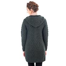 Irish Coat | Merino Wool Celtic Aran Knit Ladies Jacket