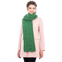 Irish Scarf |Super Soft Merino Wool Cable Knit Ladies Scarf