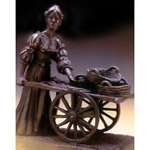 Rynhart Bronze Sculpture - Molly Malone Sculpture by Jeanne Rynhart