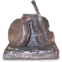 Rynhart Bronze Sculpture - Seisiun Fiddle Sculpture by Jeanne Rynhart