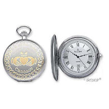 'Cuchulainn' Claddagh Pocket Watch