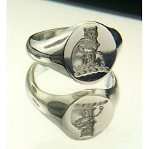 Irish Rings - Sterling Silver Coat of Arms Ring and Wax Seal - Medium