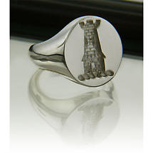 Irish Rings - Sterling Silver Family Crest Ring - Large