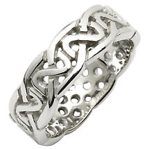 Irish Wedding Ring - Celtic Knot Pierced Sheelin Ladies Wedding Band