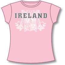 Irish T-Shirt - Ladies 4 Provinces of Ireland (Pink)