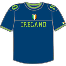 Ireland Combat T-Shirt - Blue