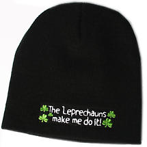The Leprechauns Made Me Do It Knit Hat