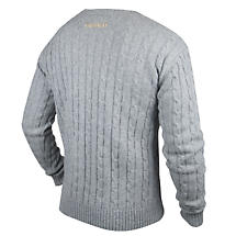 Irish Sweaters | Guinness Classic Grey Cable Knit Cotton/ Cashmere Sweater