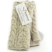 Irish Wool Handwarmers Aran - Oatmeal