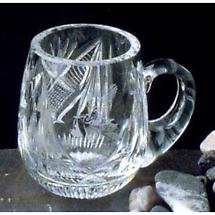 Irish Crystal - Heritage Irish Crystal Baby Mug with Stork