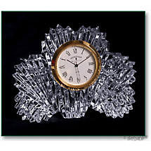 Irish Crystal - Heritage Crystal Shamrock Clock