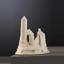 Belleek Pottery | Devenish Round Tower Irish Masterpiece Collection Ornament