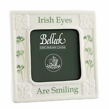 Belleek Pottery | Classic Irish Eyes Are Smiling 3 x 3 Photo Frame