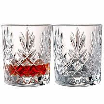 Galway Crystal Renmore Irish Whiskey Glass Pair