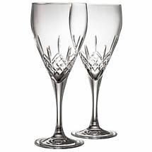 Galway Crystal Longford Red Wine Glass Pair