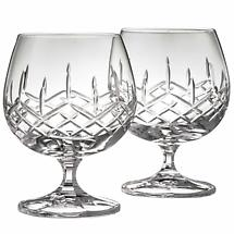 Galway Crystal Brandy Glass Pair