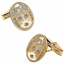 Irish Coat of Arms Jewelry Oval Cufflinks Large