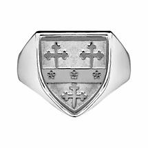Irish Coat of Arms Jewelry | Mens Heavy Shield Ring