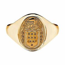 Irish Coat of Arms Jewelry | Ladies Solid Heavy Ring