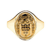 Irish Coat of Arms Jewelry | Ladies Oval Shield Ring