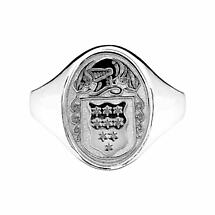 Irish Coat of Arms Jewelry | Ladies Oval Solid Heavy Ring