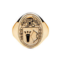 Irish Coat of Arms Jewelry | Mens Oval Shield Heavy Ring