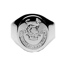 Irish Coat of Arms Jewelry | Ladies Hand Engraved Extra Heavy Seal Ring