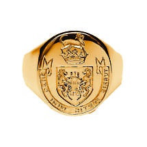 Irish Coat of Arms Jewelry | Mens Hand Engraved Extra Heavy Seal Ring
