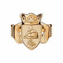 Irish Coat of Arms Jewelry | Mens Claddagh Ring