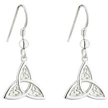Celtic Earrings | Sterling Silver Trinity Knot Trio Irish Earrings