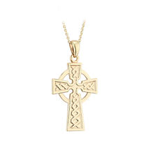 Irish Necklace | 10k Gold Celtic Cross Pendant